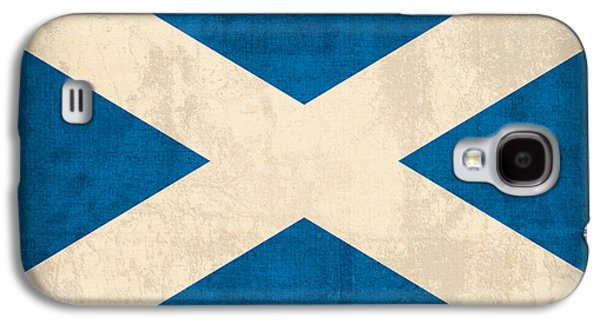 Scotland Galaxy S4 Cases - Scotland Flag Vintage Distressed Finish Galaxy S4 Case by Design Turnpike