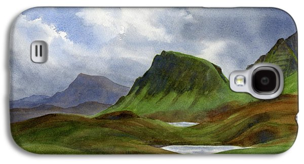 Storms Paintings Galaxy S4 Cases - Scotland Highlands Landscape Galaxy S4 Case by Sharon Freeman