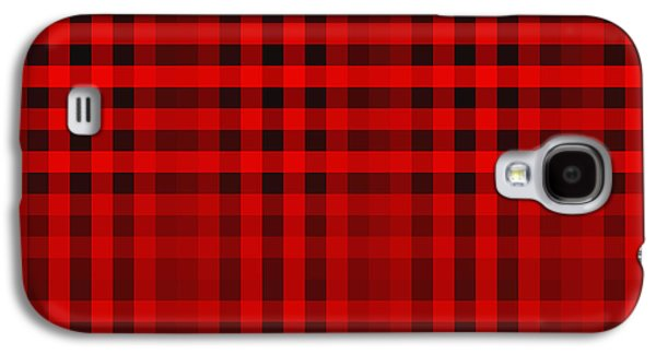 Modern Abstract Tapestries - Textiles Galaxy S4 Cases - Scottish cage Galaxy S4 Case by Lali Kacharava