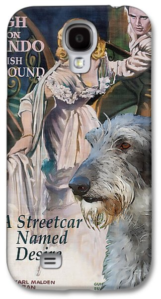 Scottish Dog Paintings Galaxy S4 Cases - Scottish Deerhound Art - A Streetcar Named Desire Movie Poster Galaxy S4 Case by Sandra Sij