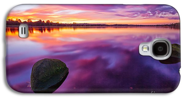 Misty Prints Galaxy S4 Cases - Scottish Loch at Sunset Galaxy S4 Case by John Farnan