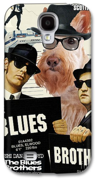 Scottish Dog Paintings Galaxy S4 Cases - Scottish Terrier Art Canvas Print - The Blues Brothers Movie Poster Galaxy S4 Case by Sandra Sij