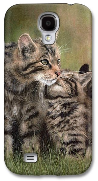 Scottish Wildcats Painting - In Support Of The Scottish Wildcat Haven Project Galaxy S4 Case by Rachel Stribbling