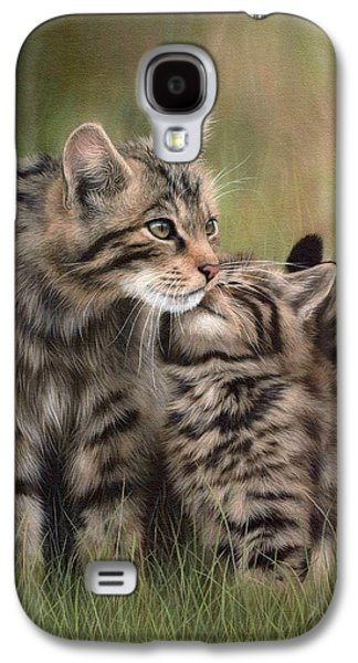 Kitten Galaxy S4 Cases - Scottish Wildcats Painting - In Support of the Scottish Wildcat Haven Project Galaxy S4 Case by Rachel Stribbling
