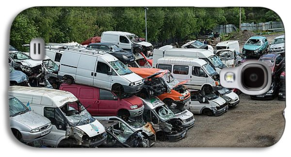 Scrap Cars Galaxy S4 Case by Robert Brook