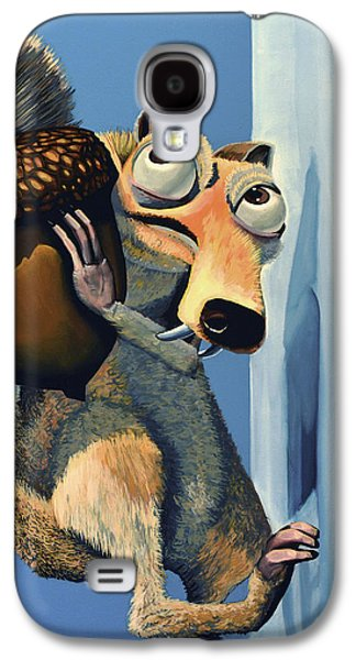 Idol Galaxy S4 Cases - Scrat of Ice Age Galaxy S4 Case by Paul Meijering