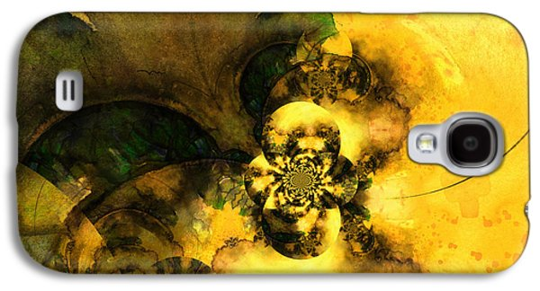 Abstract Digital Paintings Galaxy S4 Cases - Scream of Nature Galaxy S4 Case by Miki De Goodaboom