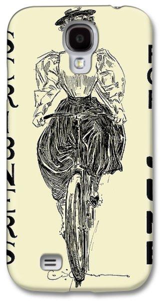 Digital Galaxy S4 Cases - Scribner Girl Galaxy S4 Case by Gary Grayson