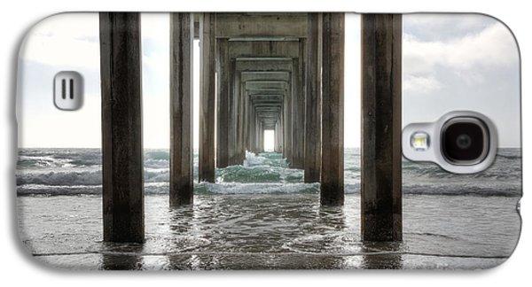 Columns Galaxy S4 Cases - Scripps Pier Galaxy S4 Case by Eddie Yerkish