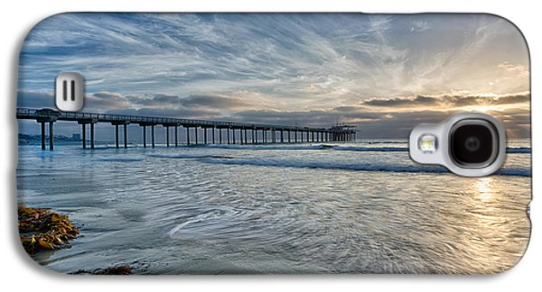Locations Galaxy S4 Cases - Scripps Pier Sky and Motion Galaxy S4 Case by Peter Tellone
