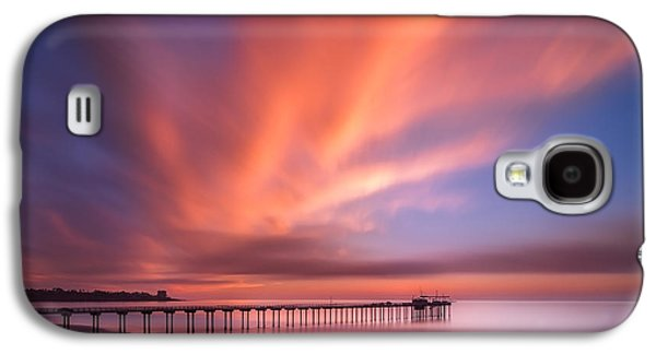 Waterscape Galaxy S4 Cases - Scripps Pier Sunset - Square Galaxy S4 Case by Larry Marshall