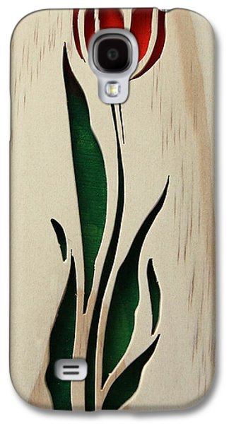 Floral Sculptures Galaxy S4 Cases - Scrolled Tulip Galaxy S4 Case by Bill Fugerer