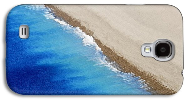 Modern Abstract Galaxy S4 Cases - Sea And Sand Galaxy S4 Case by Wendy Wilton