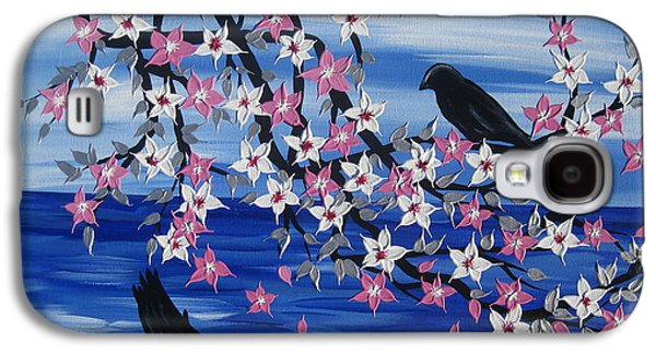 Catherine White Paintings Galaxy S4 Cases - Sea Blossoms Galaxy S4 Case by Cathy Jacobs