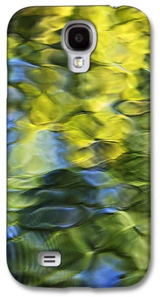 Nature Abstract Galaxy S4 Cases - Sea Breeze Mosaic Abstract Art Galaxy S4 Case by Christina Rollo