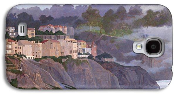Leonard Filgate Paintings Galaxy S4 Cases - Sea Cliff Galaxy S4 Case by Leonard Filgate