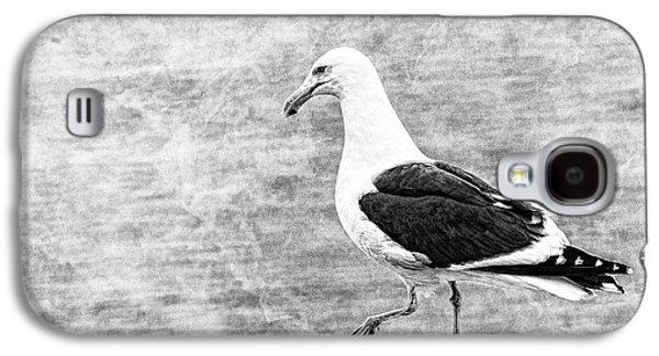 Sea Gull On Wharf Patrol Galaxy S4 Case by Jon Woodhams