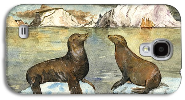 Sea Lions Galaxy S4 Case by Juan  Bosco