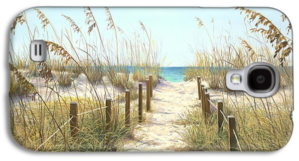 Beach Landscape Galaxy S4 Cases - Sea Oat Path Galaxy S4 Case by Laurie Hein