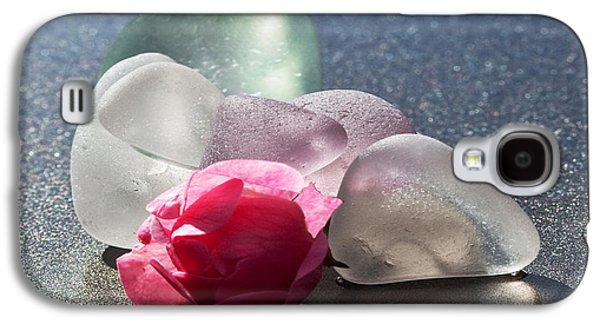 Still Life Glass Art Galaxy S4 Cases - Sea Rose Galaxy S4 Case by Barbara McMahon