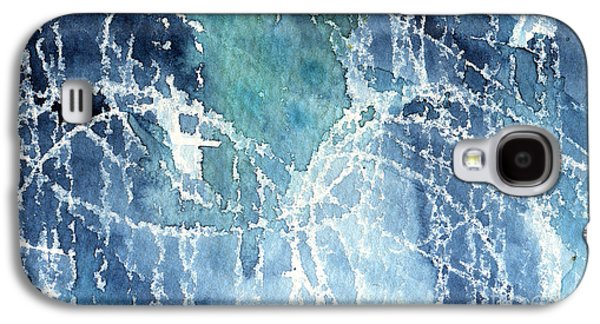 Studio Mixed Media Galaxy S4 Cases - Sea Spray Galaxy S4 Case by Linda Woods