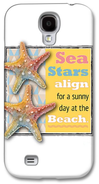 Sea Stars Align For A Sunny Day At The Beach. Galaxy S4 Case by Amy Kirkpatrick