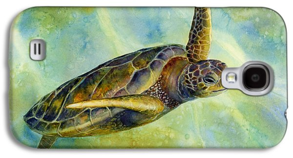 Posters On Paintings Galaxy S4 Cases - Sea Turtle 2 Galaxy S4 Case by Hailey E Herrera