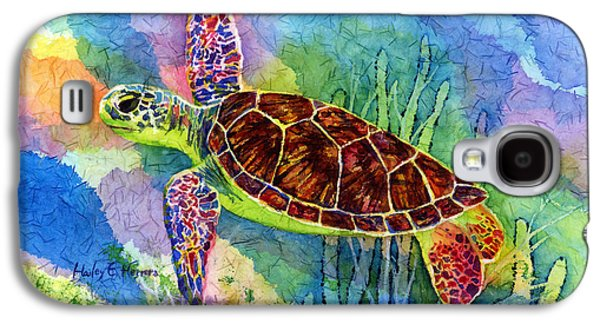 Green Galaxy S4 Cases - Sea Turtle Galaxy S4 Case by Hailey E Herrera