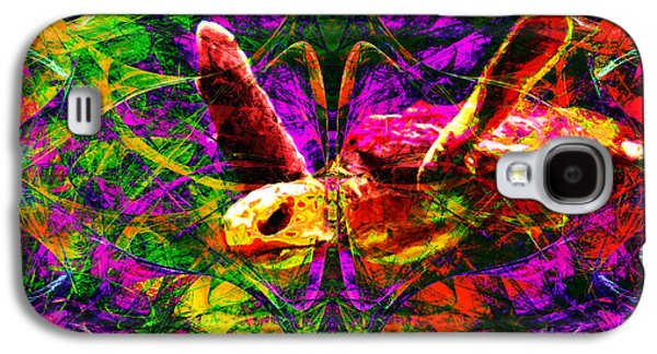 Reptiles Digital Galaxy S4 Cases - Sea Turtle In Abstract v1 Galaxy S4 Case by Wingsdomain Art and Photography