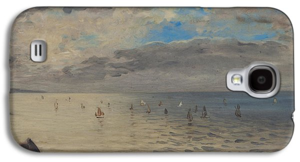 Delacroix Galaxy S4 Cases - Sea Viewed from the Heights of Dieppe Galaxy S4 Case by Ferdinand Victor Eugene Delacroix