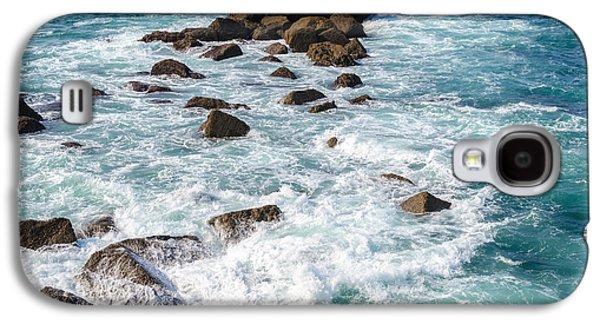 Slam Galaxy S4 Cases - Sea water breaking on rocks Galaxy S4 Case by Dutourdumonde Photography
