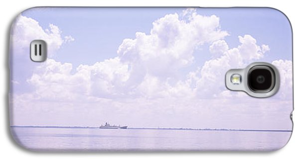 Sunshine Skyway Bridge Galaxy S4 Cases - Sea With A Container Ship Galaxy S4 Case by Panoramic Images