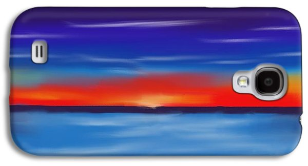 Sunset Abstract Pastels Galaxy S4 Cases - Seacape Beauty Galaxy S4 Case by Jerod Roberts
