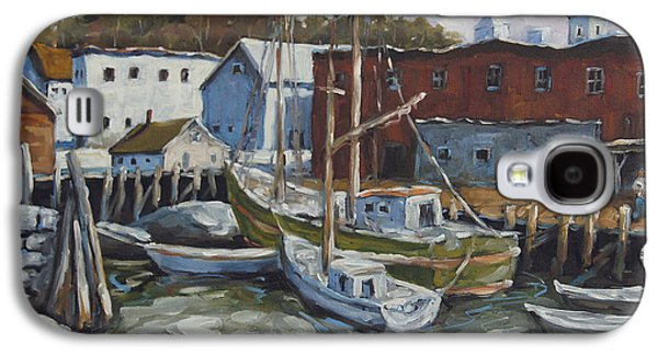 Canadiens Paintings Galaxy S4 Cases - Seacscape Dock Scene by Prankearts Galaxy S4 Case by Richard T Pranke