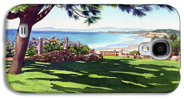 Park Scene Galaxy S4 Cases - Seagrove Park Del Mar Galaxy S4 Case by Mary Helmreich