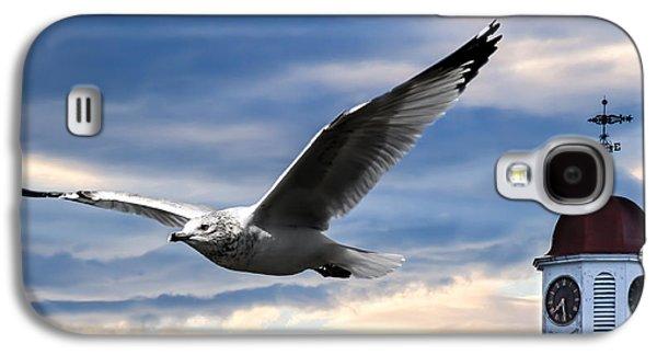 Dreamscape Galaxy S4 Cases - Seagull and Clock Tower Galaxy S4 Case by Bob Orsillo