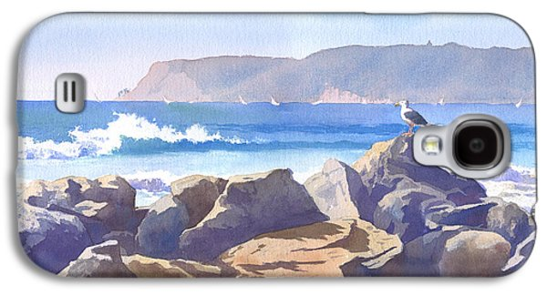 Seaside Galaxy S4 Cases - Seagull and Point Loma Galaxy S4 Case by Mary Helmreich