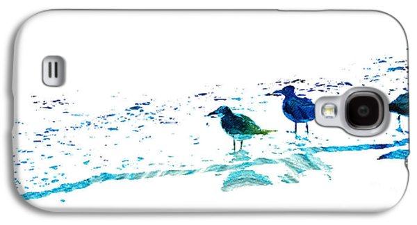 Seagull Art - On The Shore - By Sharon Cummings Galaxy S4 Case by Sharon Cummings
