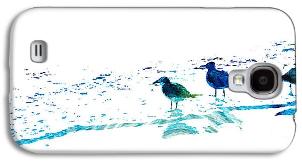 Subtle Colors Galaxy S4 Cases - Seagull Art - On The Shore - By Sharon Cummings Galaxy S4 Case by Sharon Cummings