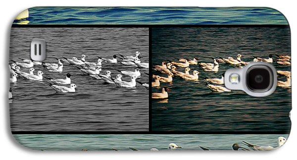 Metal Prints Pyrography Galaxy S4 Cases - Seagull in Ganga River Galaxy S4 Case by Girish J