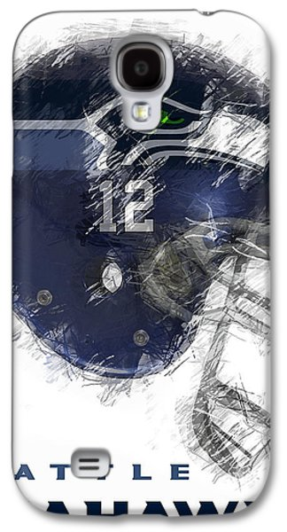 Nfl Galaxy S4 Cases - Seahawks 12 Galaxy S4 Case by Daniel Hagerman