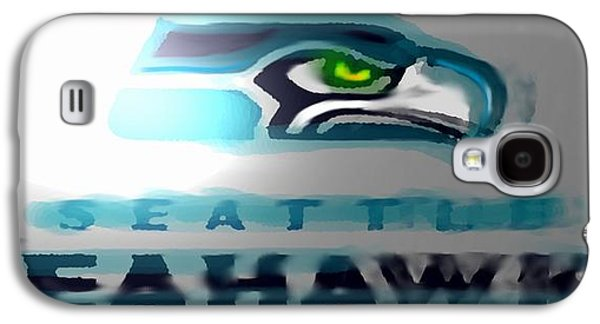 Nike Digital Art Galaxy S4 Cases - Seahawks 2 - Seattle Galaxy S4 Case by Marcello Cicchini