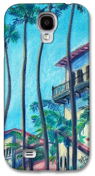 Beach Landscape Pastels Galaxy S4 Cases - Seal Beach City Hall Galaxy S4 Case by Michael Foltz