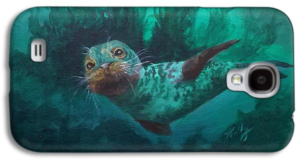Aquatic Drawings Galaxy S4 Cases - Seal Galaxy S4 Case by Kathleen Kelly Thompson