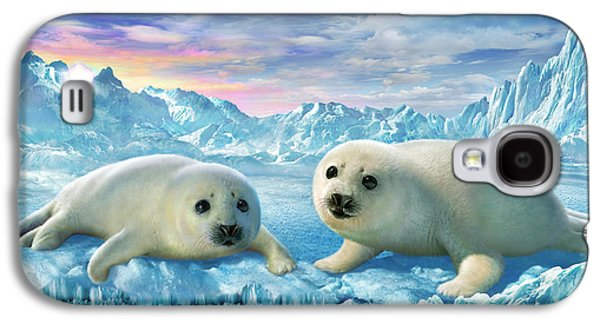 Pup Digital Art Galaxy S4 Cases - Seal Pups Galaxy S4 Case by Adrian Chesterman