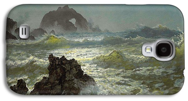 Snow Scene Landscape Paintings Galaxy S4 Cases - Seal Rock California Galaxy S4 Case by Albert Bierstadt
