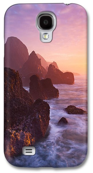 Landscapes Photographs Galaxy S4 Cases - Seal Rock Sunset Galaxy S4 Case by Darren  White