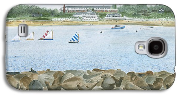 Chatham Paintings Galaxy S4 Cases - Seals at Chatham Bars Inn Galaxy S4 Case by Heather MacKenzie