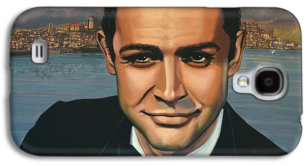 Indiana Art Galaxy S4 Cases - Sean Connery as James Bond Galaxy S4 Case by Paul Meijering