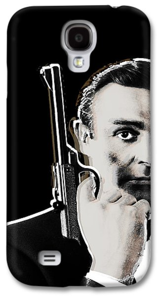 Character Portraits Mixed Media Galaxy S4 Cases - Sean Connery James Bond Vertical Galaxy S4 Case by Tony Rubino